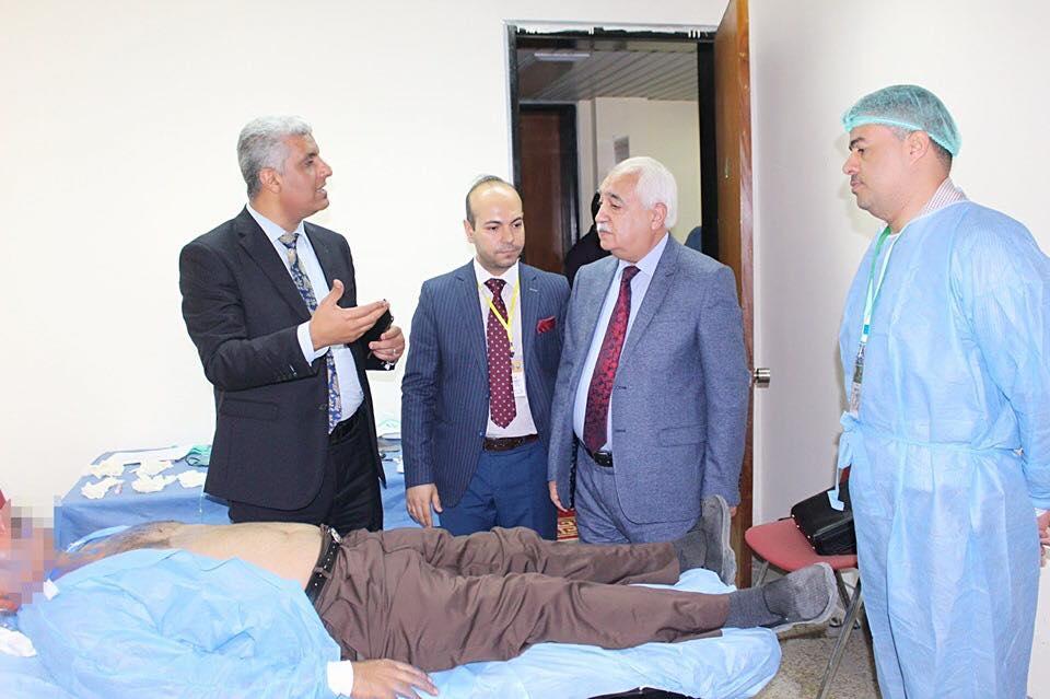 ن أجل ترسيخ وتنفيذ ستراتيجية المنهاج العلمي لنقابة أطباء العراق وحرصا منها على بناء القدرات العلمية للطواقم الطبيه واكسابها المهارات فقد كان من أولويات عملها الاهتمام بجوانب التدريب الطبي بالتواصل وال