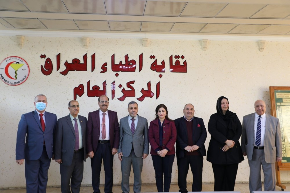 وفد المجلس الأعلى للجمعيات العلمية يزور مقر نقابة الأطباء
