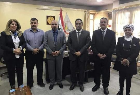 زيارة الدكتور المهندس هيثم الجبوري عضو مجلس النواب الى نقابة اطباء العراق