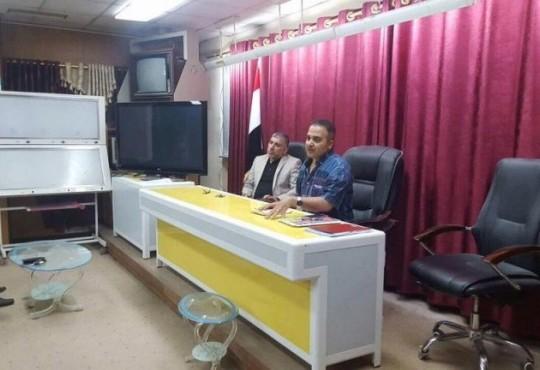 رئيس فرع نقابه اطباء محافظه المثنى الدكتور زيد علي مجيد يلتقي بمجموعة من الاطباء في المحافظة