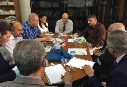 اجتماع اللجنة العلميه في نقابة الاطباء المقر العام برئاسة الدكتور حيدر عبد الحسين