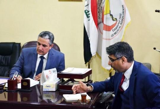 زيارة المفتش العام لوزارة الصحة لنقابة اطباء العراق