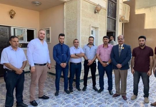 زار السيد نقيب أطباء العراق الدكتور (جاسم العزاوي) مقر فرع النقابه في تكريت