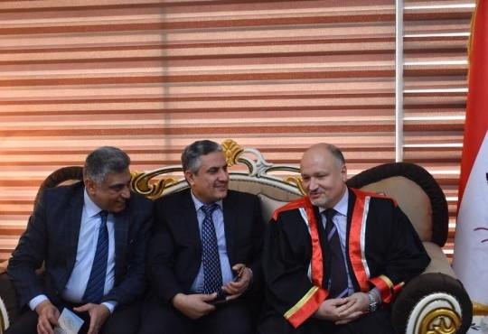 بدعوةٍ من المجلس العراقي للأختصاصات الطبية ، حضر السيد نقيب اطباء العراق الدكتور