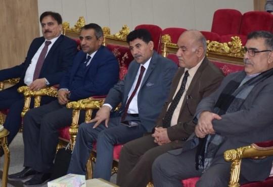 ترأس نقيب اطباء العراق الدكتور عبد الامير محسن حسين اجتماعا مع رؤساء فروع نقابة اطباء العراق اليوم السبت