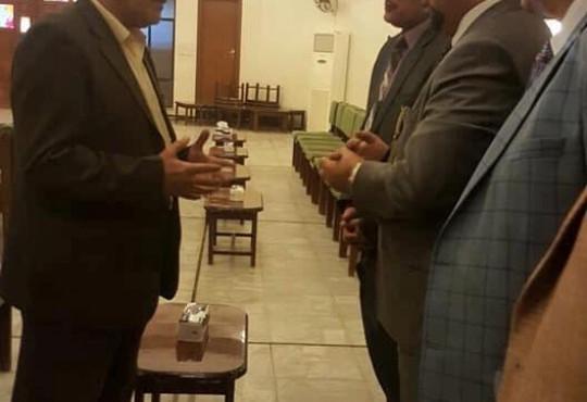 نقيب الاطباء واعضاء مجلس نقابة الاطباء يشاركون في عزاء زملائهم في كنيسة مار بهنام