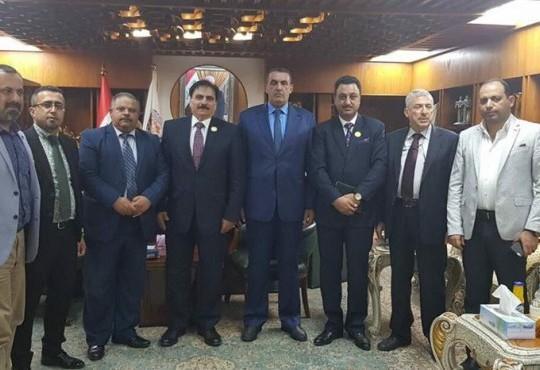 زار وفد من نقابة أطباء العراق المركز العام برئاسة أمين عام النقابة الدكتور(محمد جواد
