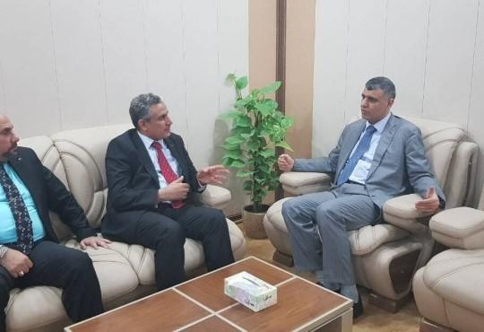 زيارة المرشح عن قائمة الفتح الأستاذ محمد صاحب الدراجي لنقابة اطباء العراق