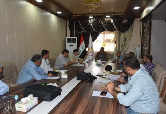 إجتماع مجلس النقابة برئاسة نقيب أطباء العراق الدكتور ((عبد الأمير محسن حسين)) والساده أعضاء مجلس النقابة