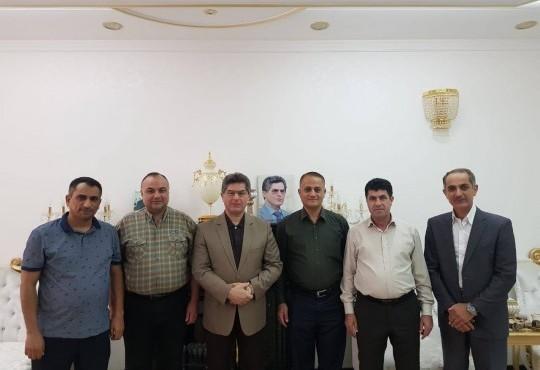 التقى الوفد النقابي برئاسة النائب الثاني للنقيب الدكتور (عامر الشمري) وعضوية كل من عضو مجلس النقابة