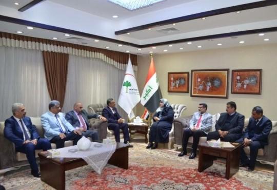 مد جسور للتعاون بين وزارة الصحة و البيئة ونقابة اطباء العراق