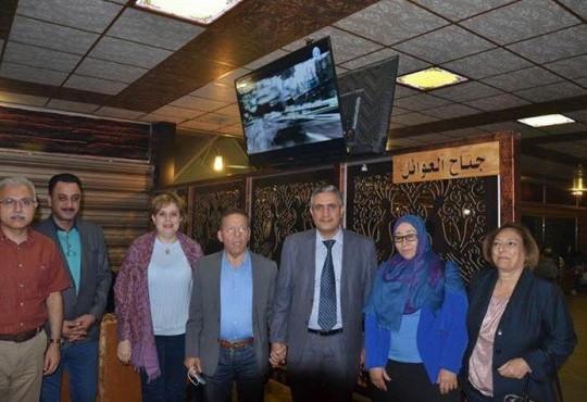 الوفد العربي المشارك بأمتحانات البورد العربي في ضيافة نقابة الاطباء