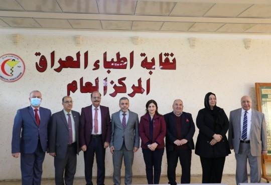 وفد المجلس الأعلى للجمعيات العلمية برئاسة الدكتورة إيناس الحمداني